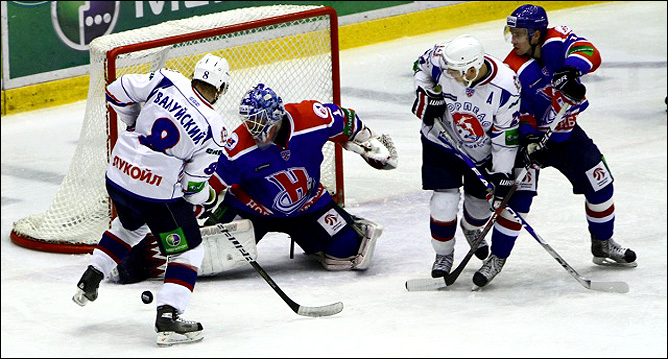 30.10.2010. КХЛ. Сибирь - Торпедо - 2:0. Фото 01.
