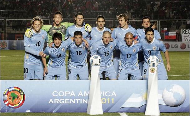 Сборная Уругвая перед матчем с национальной дружиной Перу