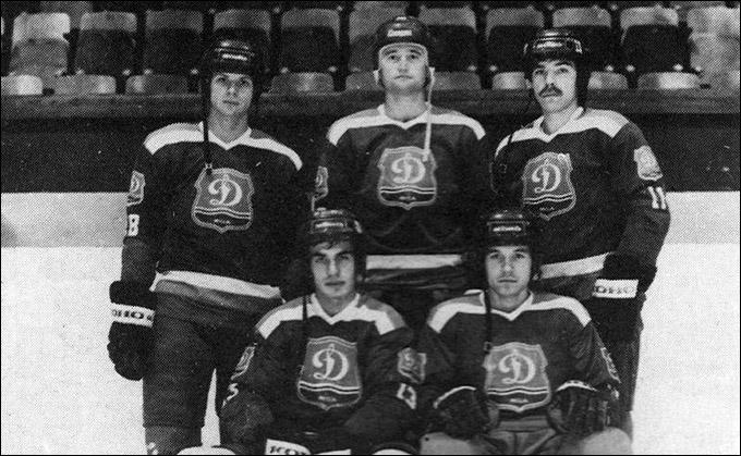 Олег Знарок (справа) с Игорем Павловым, Николаем Варяновым, Евгением Семеряком и Сергеем Чудиновым