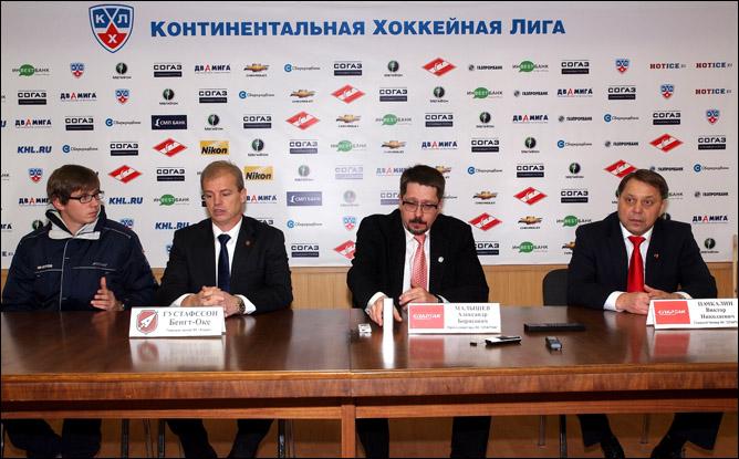Послематчевая пресс-конференция Бенгта-Оке Густафссона и Виктора Пачкалина