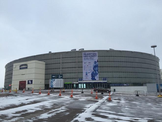 «Хартвалл Арена» перед матчем Россия — Дания