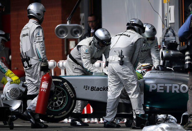 Сход Хэмилтона на Гран-при Бельгии