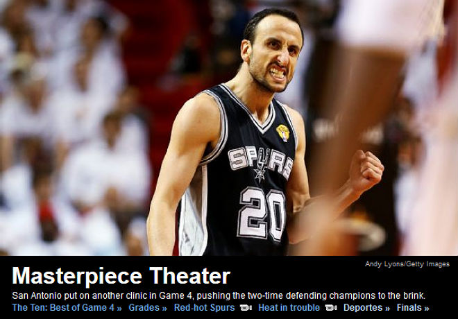 ESPN: «Театр шедевров»