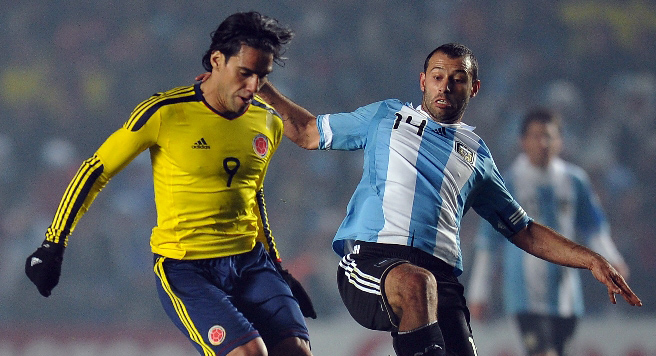 Колумбиец Фалькао против аргентинца Хавьера Маскерано