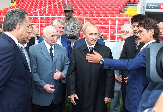 Владимир Путин на открытии спартаковского стадиона