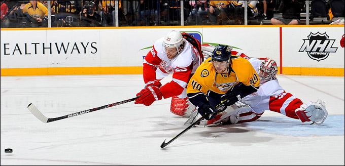 "21 апреля 2012 года. Нэшвилл. Плей-офф НХЛ. 1/4 финала — Запад. ""Нэшвилл Предаторз"" — ""Детройт Ред Уингз"" — 2:1"