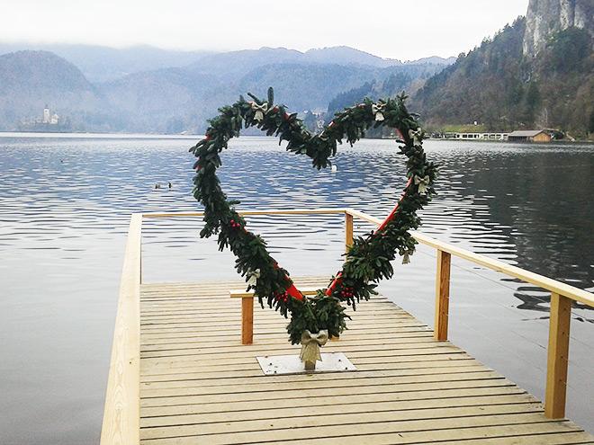 Место встречи влюблённых на берегу Бледского озера