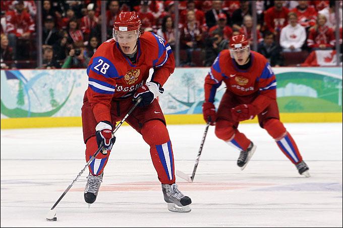 Александр Сёмин и Евгений Малкин в составе сборной России