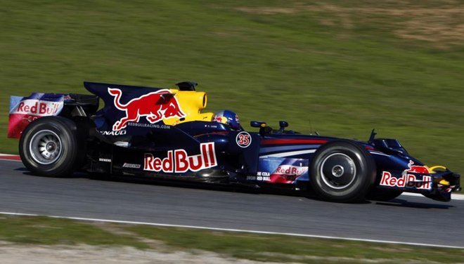 Тесты болида «Ред Булл» Формулы-1