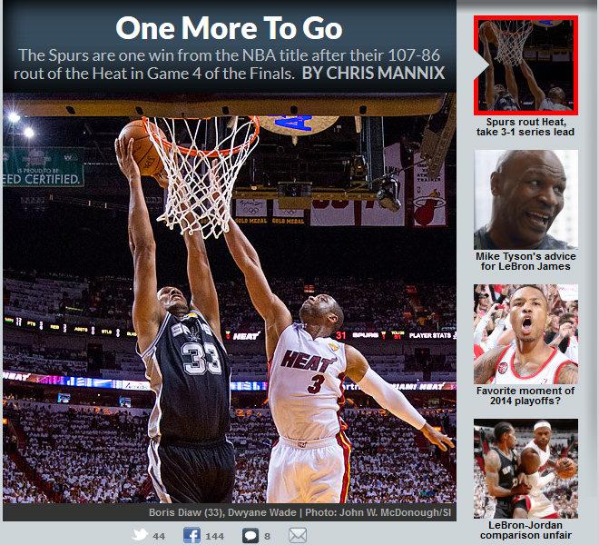 Sports Illustrated: «Ещё одна...»