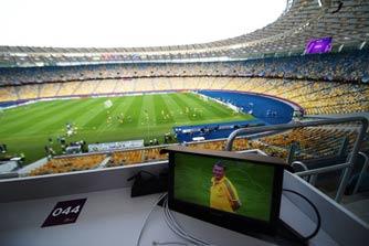 Арена за сутки до матча Украина — Швеция
