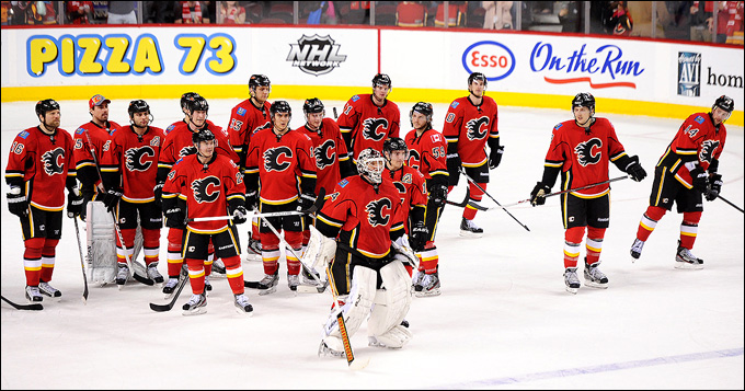 """Итоги сезона НХЛ. """"Калгари Флэймз"""". Итоговое место в регулярном чемпионате: 25-е, в Западной конференции — 13-е."""