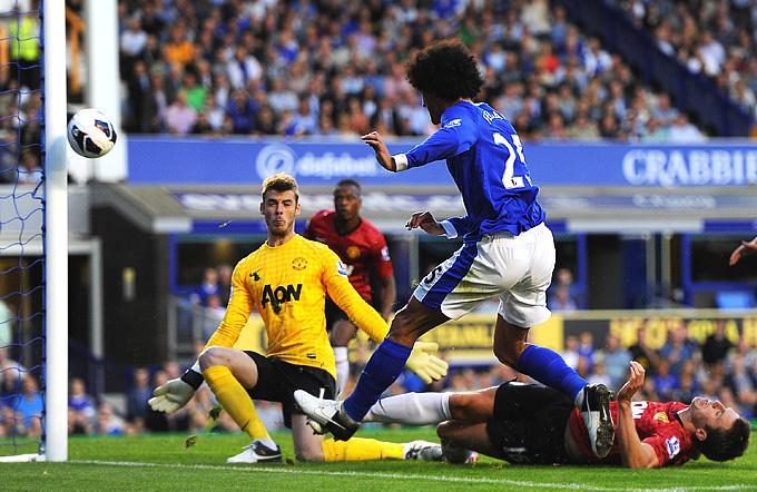 "20 августа 2012 года. 1-й тур премьер-лиги. ""Эвертон"" — ""Манчестер Юнайтед"" — 1:0"