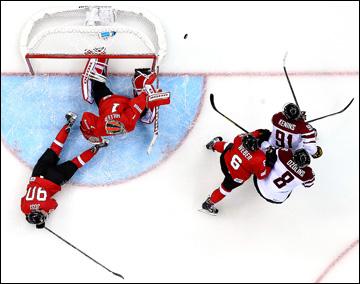 12 февраля 2014 года. Сочи. XXII Зимние Олимпийские игры. Хоккей. Групповой этап. Латвия — Швейцария — 0:1