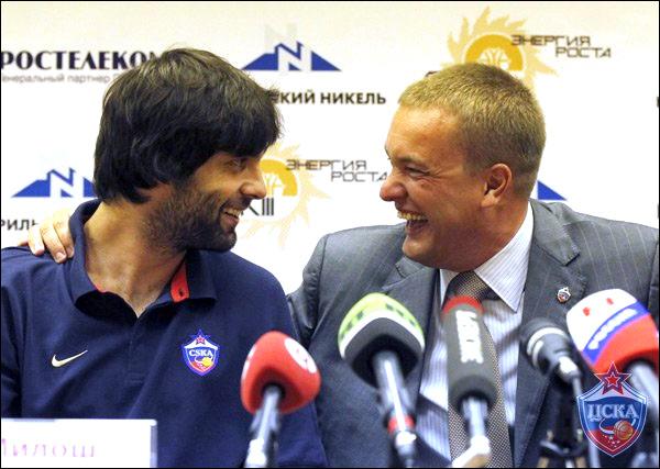 Милош Теодосич и Андрей Ватутин. Уже все рады, что же будет дальше?