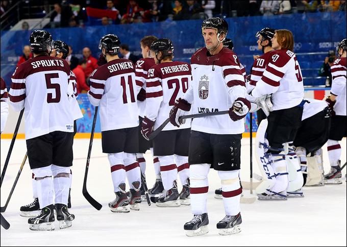 12 февраля 2014 года. Сочи. XXII Зимние Олимпийские игры. Хоккей. Групповой этап. Латвия — Швейцария — 0:1. Сандис Озолиньш: сделали всё, что могли