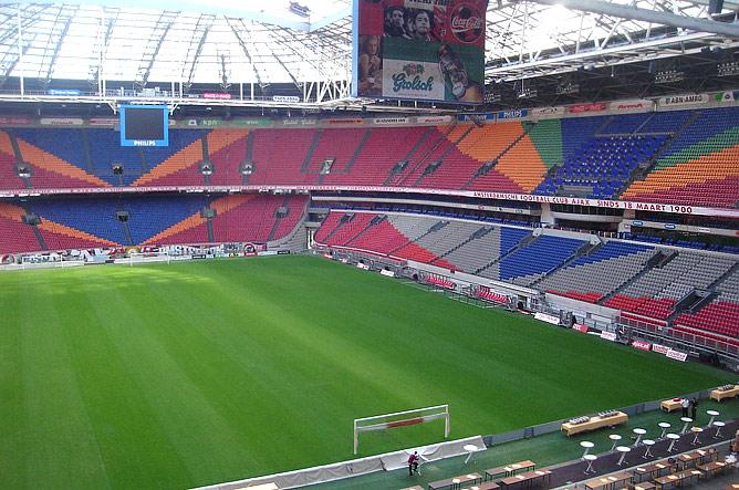 Изнутри стадион производит не менее приятное впечатление