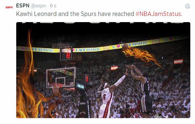 Наглядная иллюстрация к словам Уэйда и Поповича от коллег с ESPN.