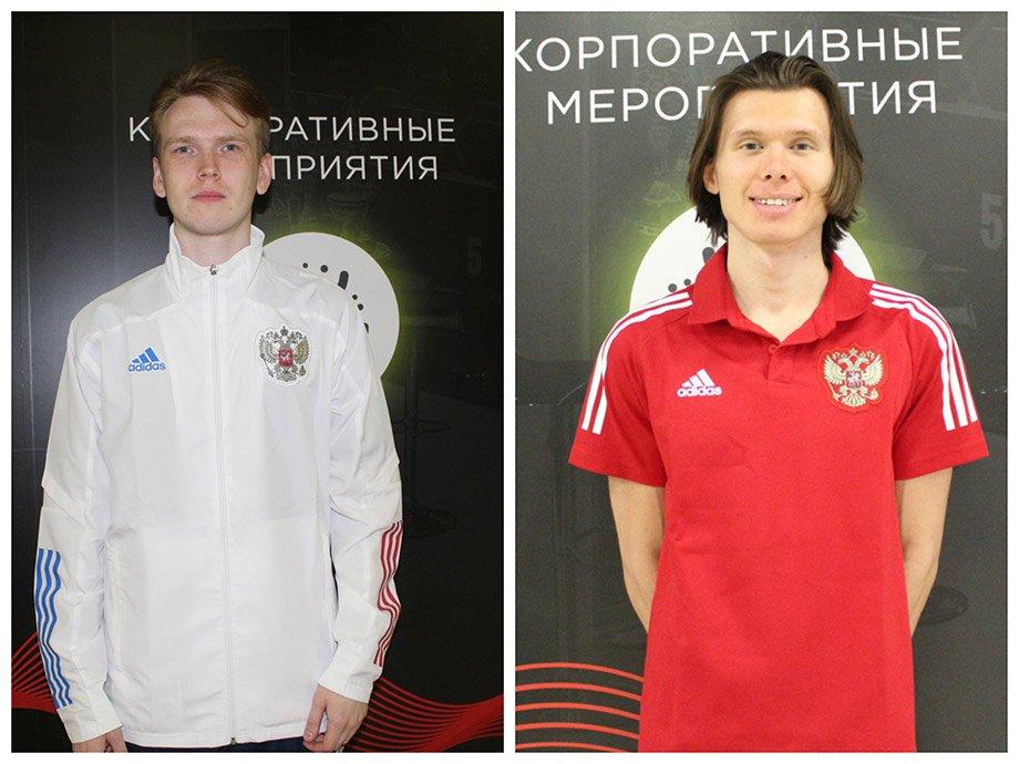 Игроки Сборной России по FIFA — Роберт Ufenok Фахретдинов (в красном) и Андрей Timon Гурьев