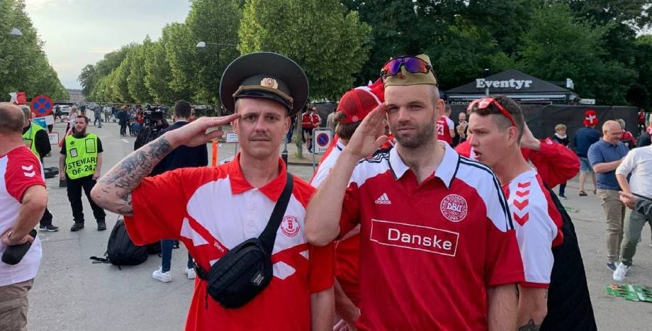 Болельщики сборной Дании