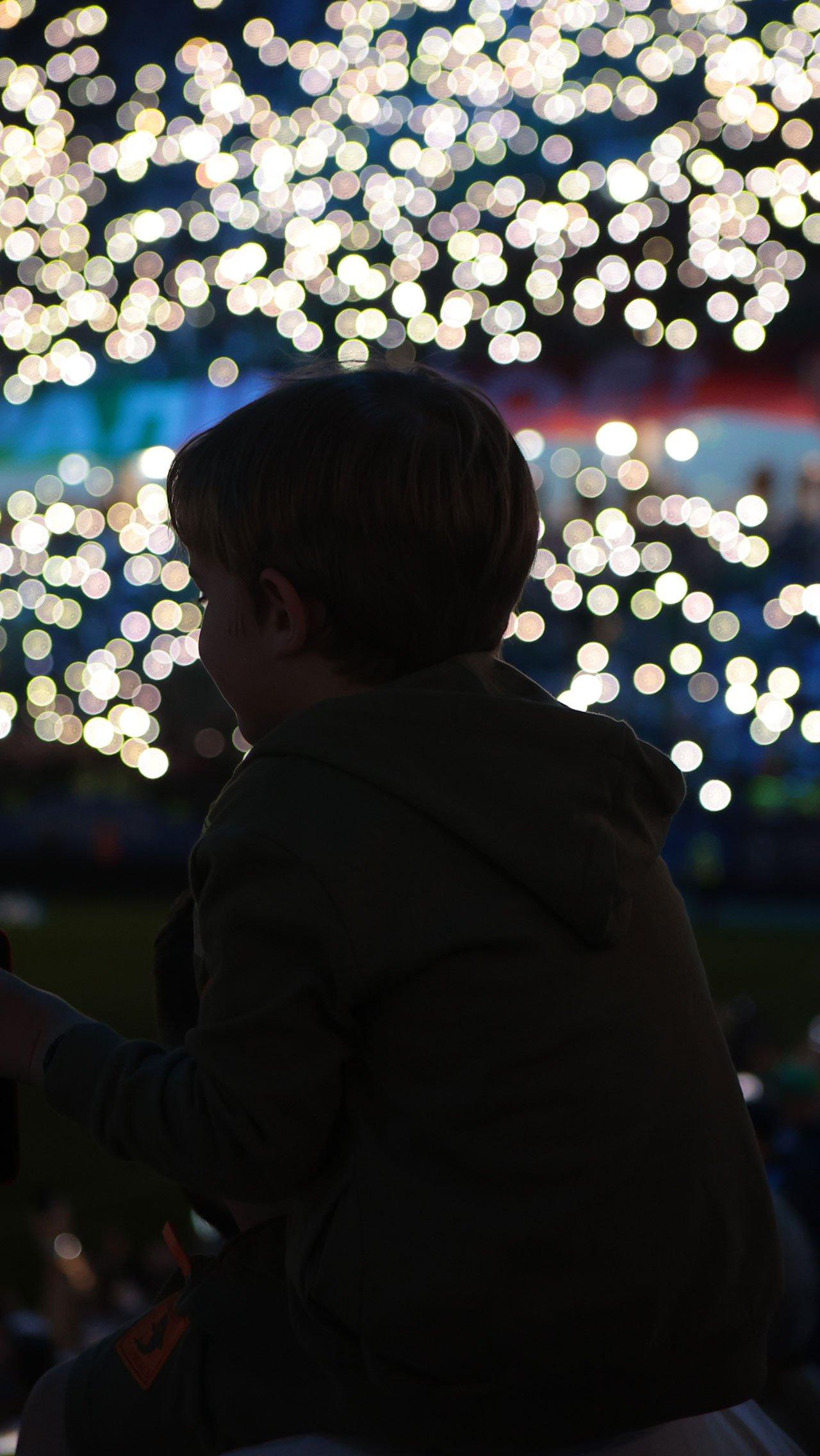 Финал Кубка состоялся на стадионе «Нижний Новгород», где в честь чемпионов устроили красивое световое шоу.