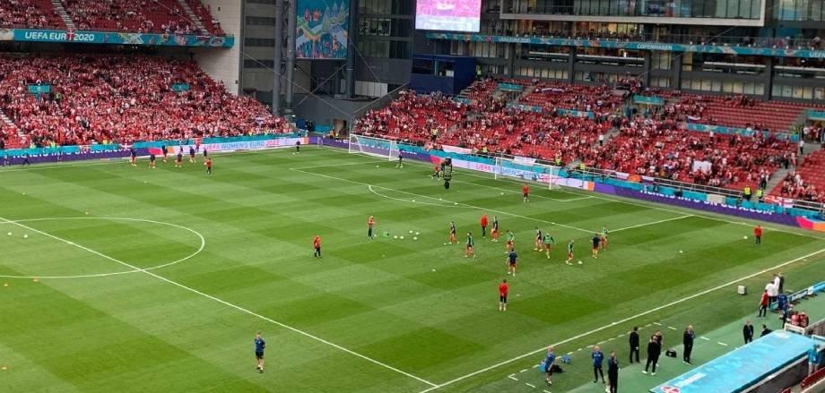 Разминка сборной России по футболу