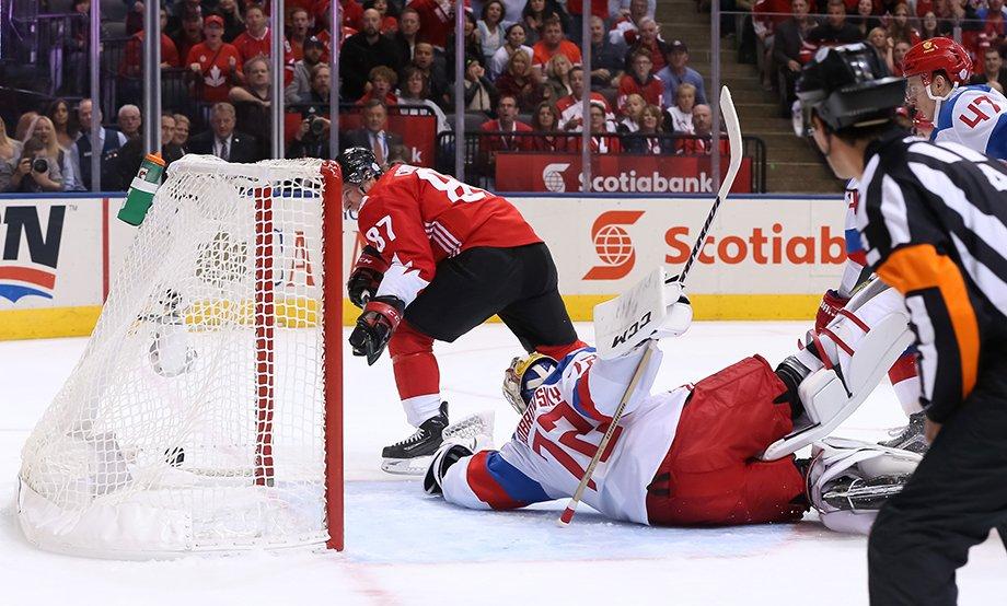 Матч Россия — Канада на Кубке мира по хоккею — 2016, Олег Знарок против сборной Канады