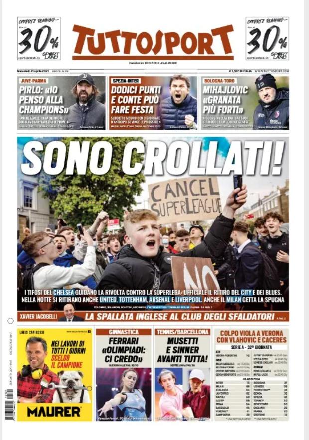 «Заговор с позорным концом». Европейские СМИ — о развале Суперлиги