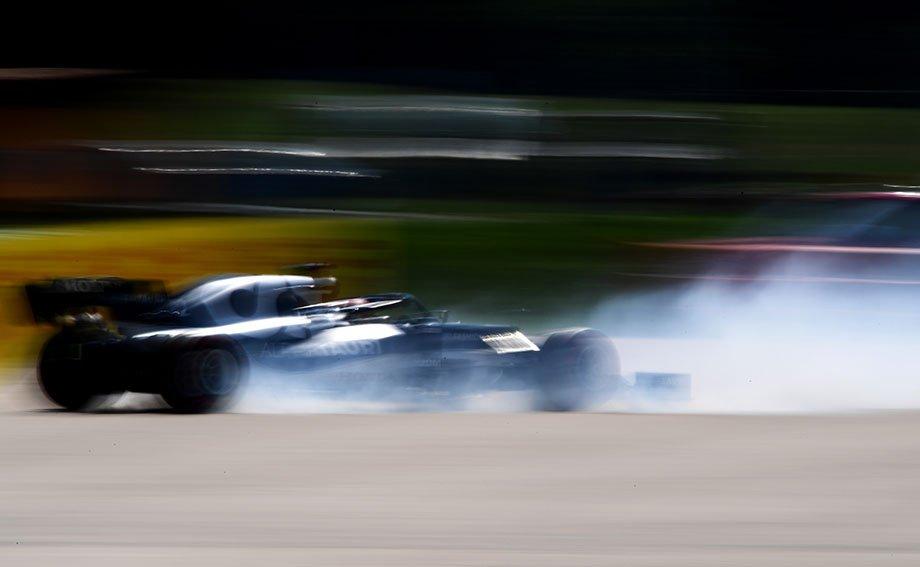 Вылет Цуноды в тренировках перед Гран-при Венгрии