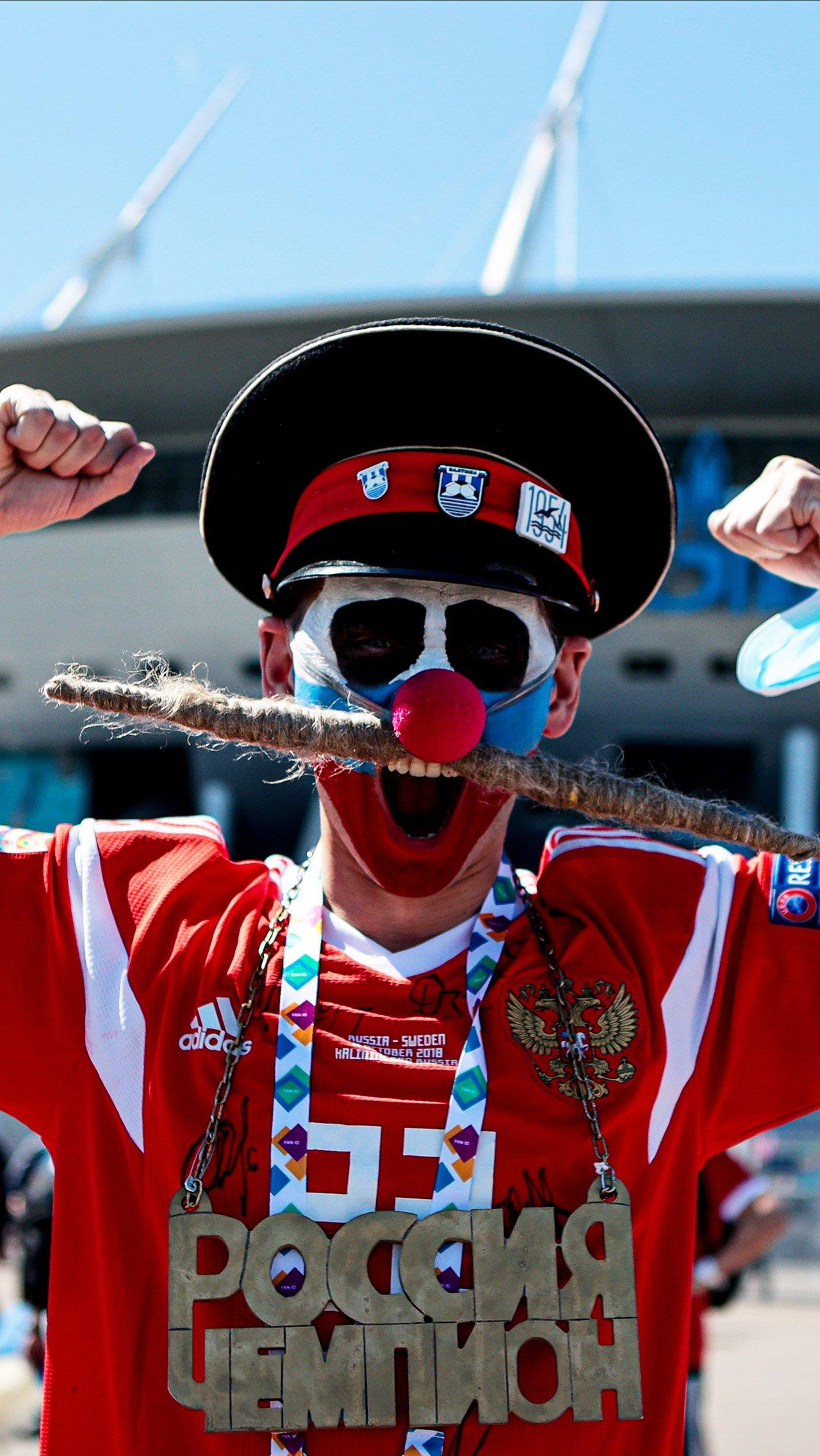 Россия одержала первую победу на Евро