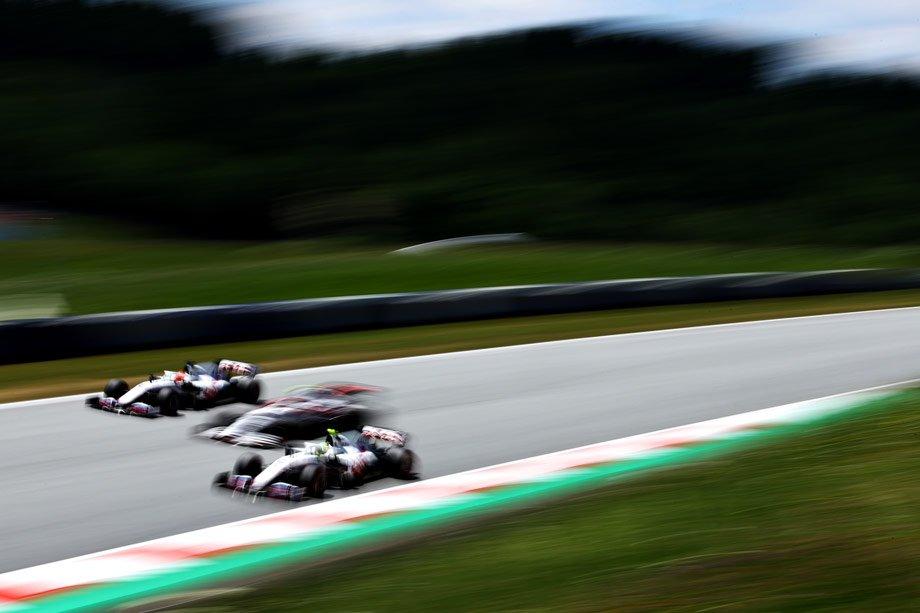 Никита Мазепин, Антонио Джовинацци и Мик Шумахер на Гран-при Австрии