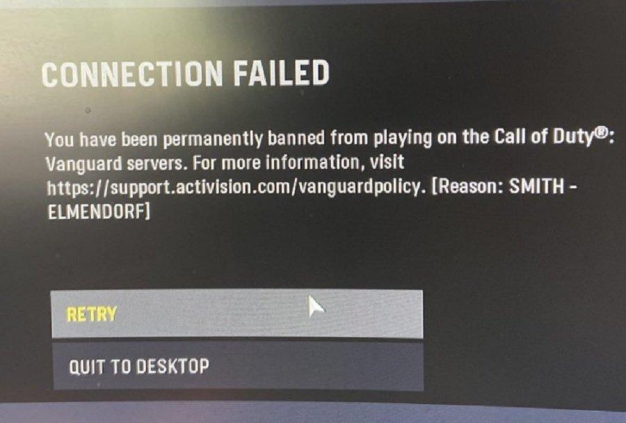 Пожизненный бан в Call of Duty