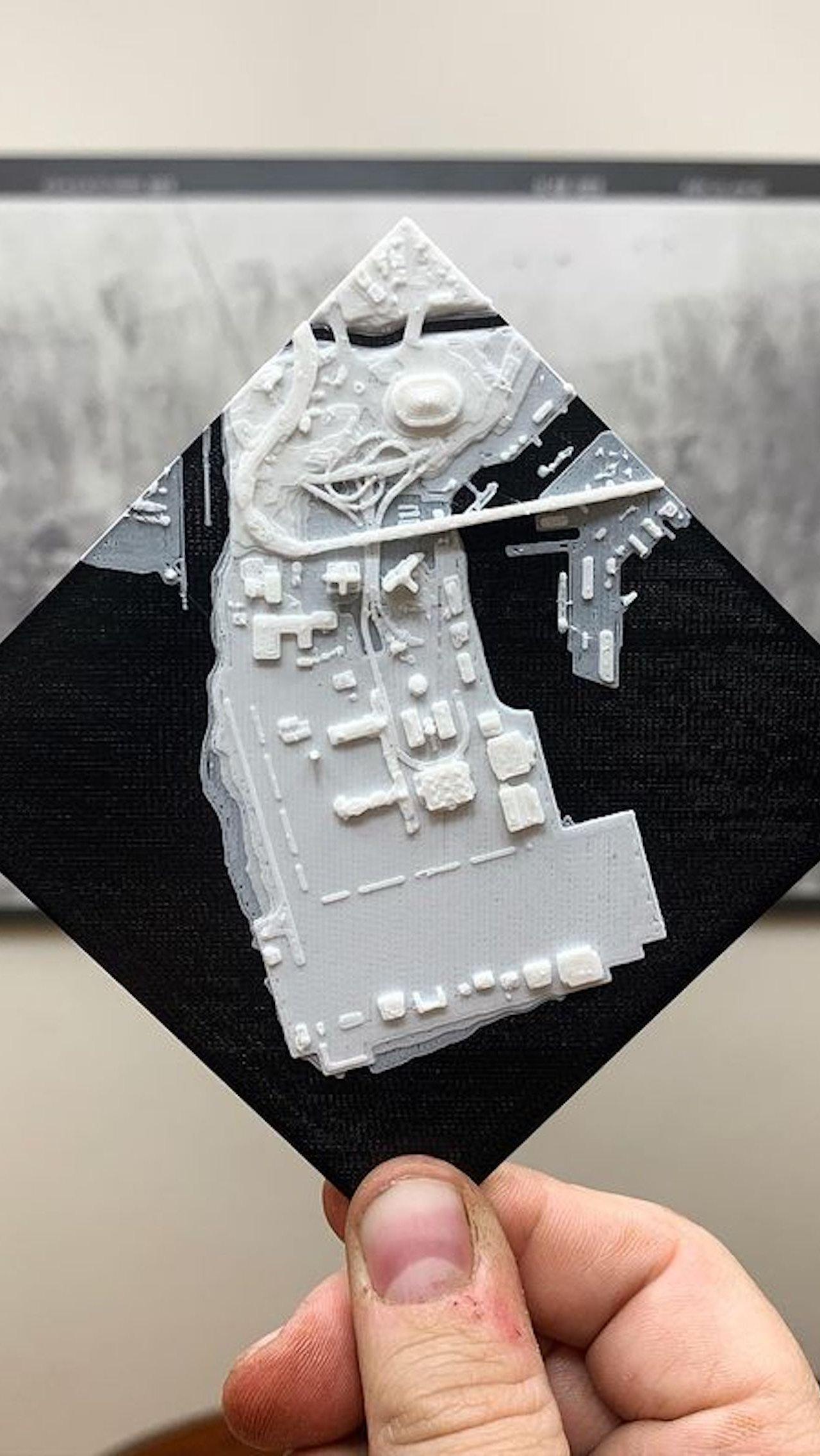 Карта из GTA V на 3D-принтере. Дизайнер собрал её за 400 часов