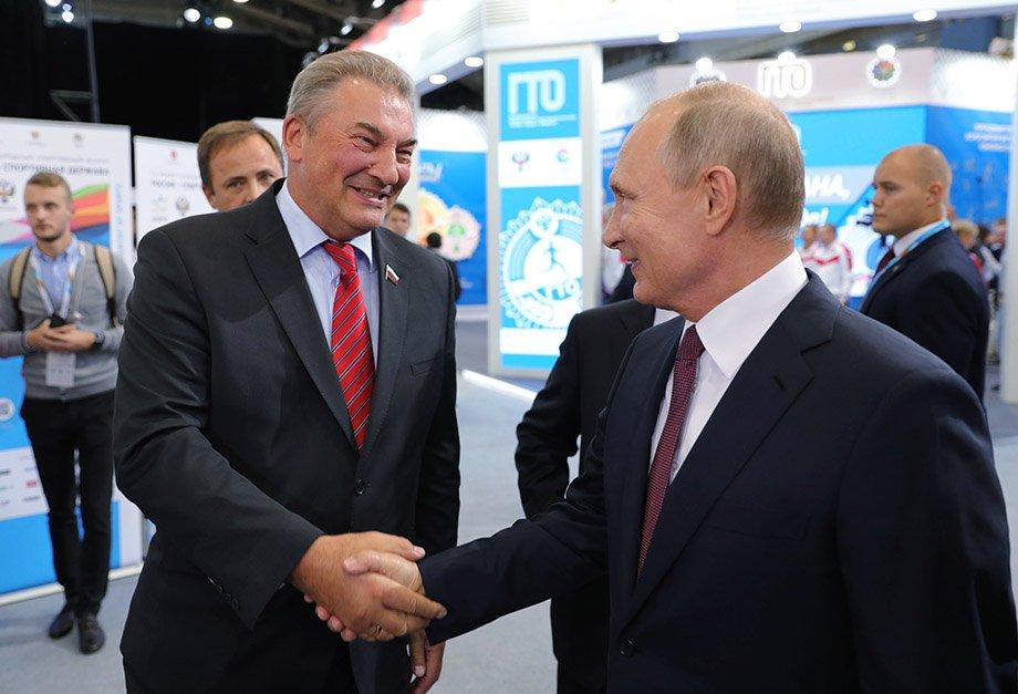 Владислав Третьяк и Владимир Путин
