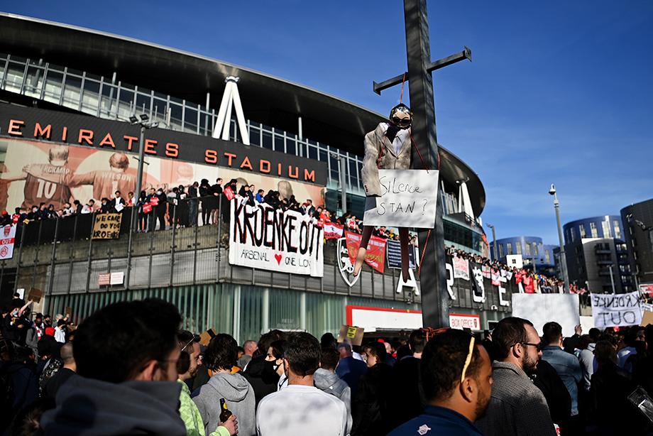 «Тебе пора валить!» Фанаты «Арсенала» объявили войну владельцу клуба