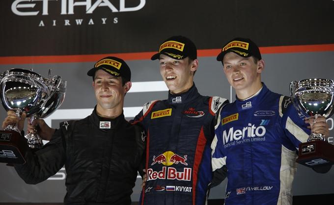 Подиум первой гонки GP3 в Абу-Даби