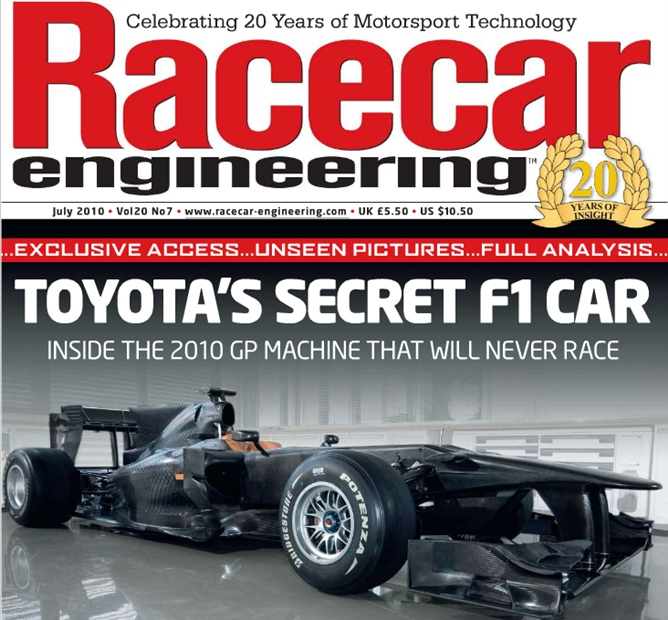 Обложка журнала Racecar Engineering
