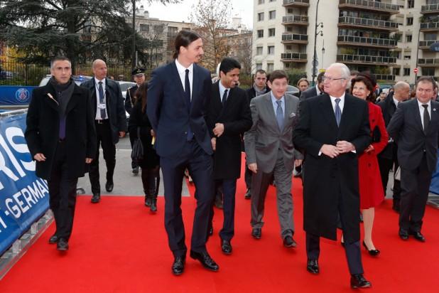 Ибрагимович провёл для шведской королевской семьи экскурсию по «Парк де Пренс»