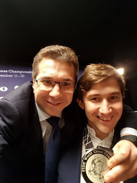 Кирилл Зангалис и Сергей Карякин