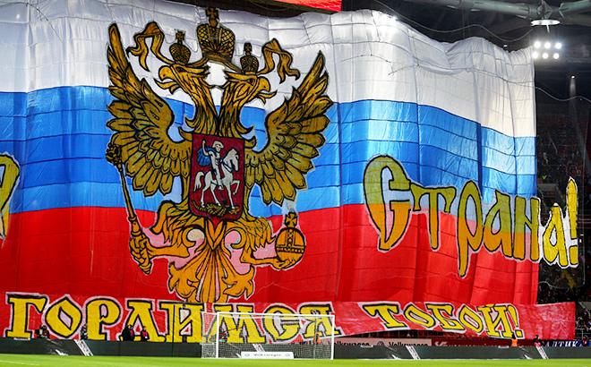 Фоторепортаж с матча Россия — Черногория