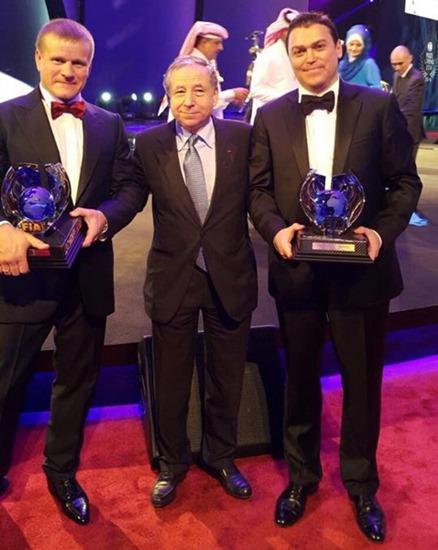 Владимир Васильев, Жан Тодт и Константин Жильцов на вручении наград в Дохе
