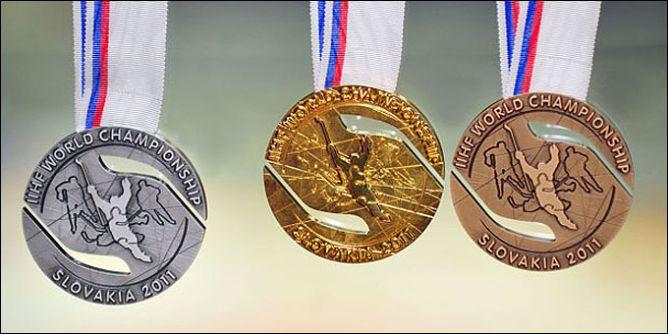 Образцы медалей грядущего чемпионата мира