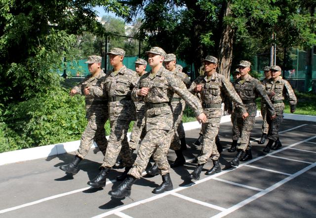 Дамир Рыспаев в армии