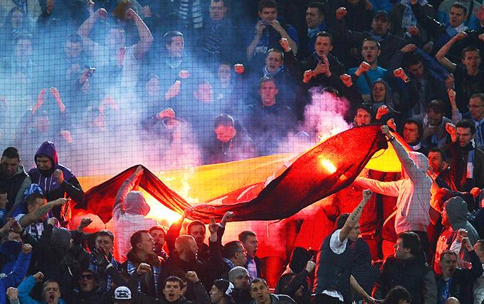 """""""Зениту"""" грозит серьёзный штраф за сожжённый фанатами флаг Германии"""
