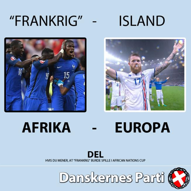 Датская националистическая партия опубликовала расистский пост о сборной Франции