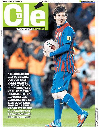 Аргентинская газета изменила название в честь Месси
