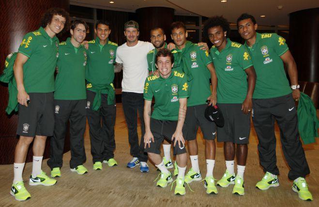 Бекхэм побывал в расположении сборной Бразилии