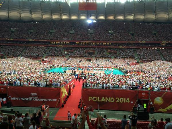 На матче Польша — Сербия на Национальном стадионе присутствует 62 000 зрителей