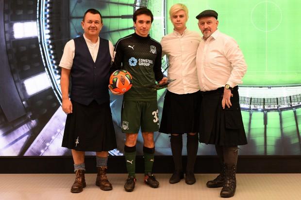 Ирландская делегация посетила матч «Краснодар» — «Уфа» и подарила призы Перейре