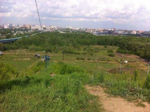 Место строительства новой арены «Сибири»